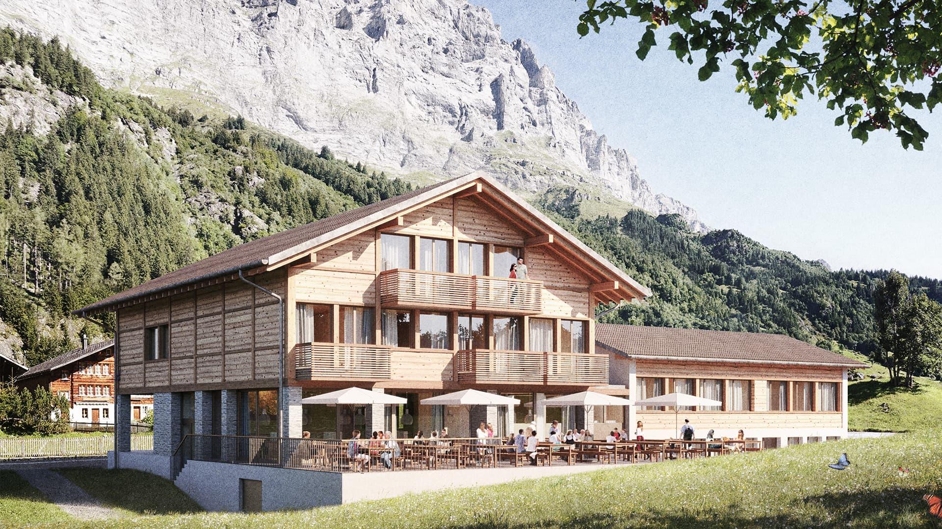 Hotel Render Terrasse (Personen)
